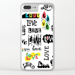More Love Words Clear iPhone Case