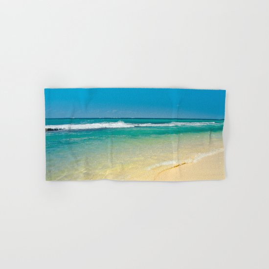 maui beaches into the blue Hand & Bath Towel