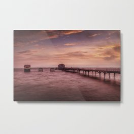 Daybreak at Mumbles Pier Metal Print