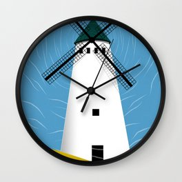 Windmill Scape Wall Clock