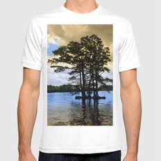 Cypress Trees Mens Fitted Tee White MEDIUM