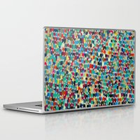 it crowd Laptop & iPad Skins featuring crowd by danielrcart