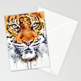 Tiger Face Close-up Stationery Cards