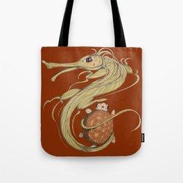 Dragon ith turtle Tote Bag