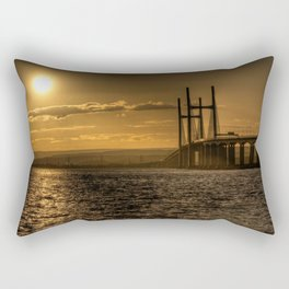 Severn Bridge Sunset  Rectangular Pillow