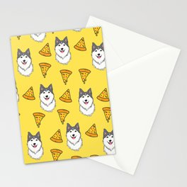 Aegis the Siberian Husky and Pizza Stationery Cards