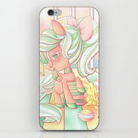 mlp iPhone & iPod Skins featuring Strawberry Dollop MLP by Whimsette