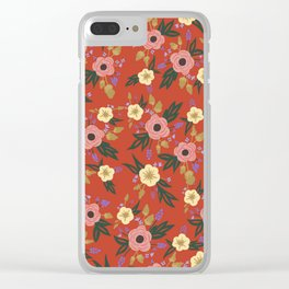 Lucille Floral Print Clear iPhone Case