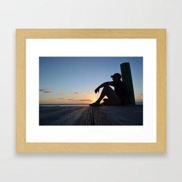 Dock Thinking Framed Art Print