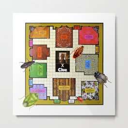 The Bug Games - Clue Metal Print