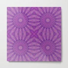 Purple Pinwheel flowers Metal Print