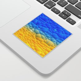 Sunshine and Blue Sky Quilted Abstract Sticker