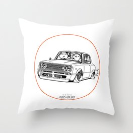Crazy Car Art 0219 Throw Pillow