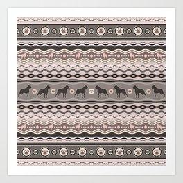 Boston Terrier - Decorative Pattern in pastels Art Print