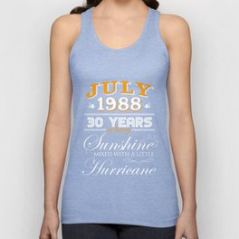 July 1988 Gifts 30 Years Anniversary Celebration Unisex Tank Top
