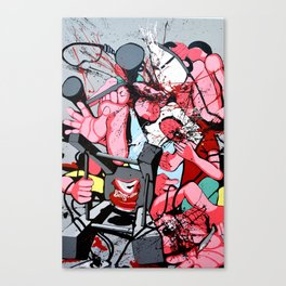 Guerre puDiche Canvas Print