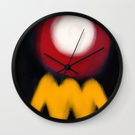 Abstract Expressionism Life Wall Clock