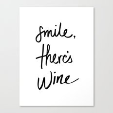 Smile - Wine Canvas Print