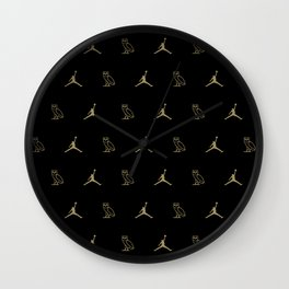 Jumpman - Black Wall Clock