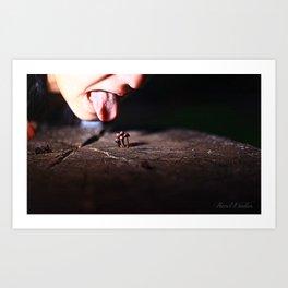 Infected Mushroom Art Print