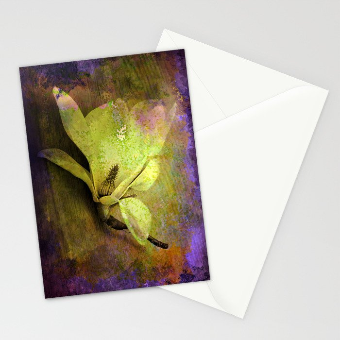 Textured Flower Stationery Cards