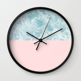 Pink on the Sea Wall Clock