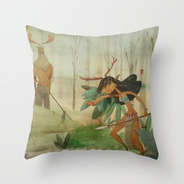 Mundos perdidos Throw Pillow