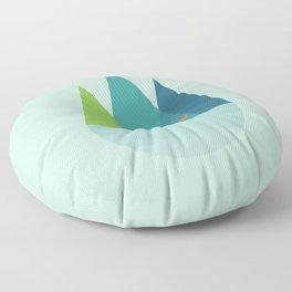 Walk Alone Floor Pillow