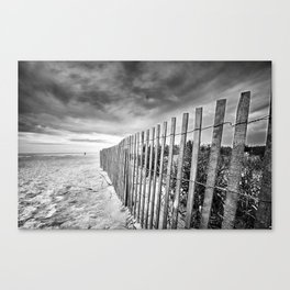 Ocean City Sand Dune Fence Canvas Print