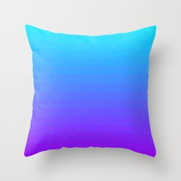 Blue and Purple Ombre Throw Pillow