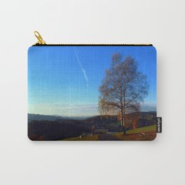 Tree, road and indian summer evening   landscape photography Carry-All Pouch