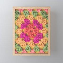 Bright Modern Crochet Pattern Framed Mini Art Print