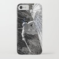 ninja turtle iPhone & iPod Cases featuring Black and White Ninja Turtle Leonardo by James Tuer