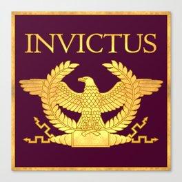 Invictus Eagle on Purple Canvas Print