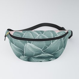 Blush Green Agave Chic #1 #succulent #decor #art #society6 Fanny Pack