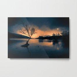 Lone Tree Snowdonia Metal Print