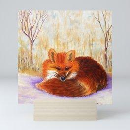 Red fox small nap   Renard roux petite sieste Mini Art Print