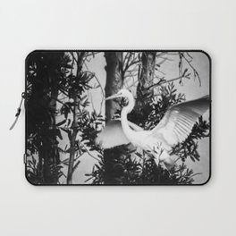 Great Egret In The Trees Laptop Sleeve