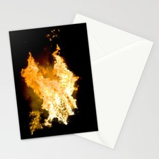 Face in the Flames Stationery Cards