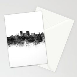 Lexington skyline in black watercolor Stationery Cards