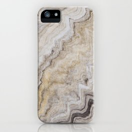 Hand Marbled Pattern Earth Colors iPhone Case