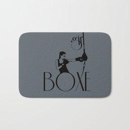 Girl boxe Bath Mat