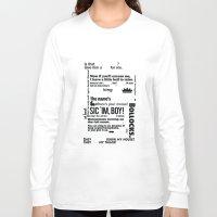 crowley Long Sleeve T-shirts featuring Supernatural - Crowley Quotes by natabraska