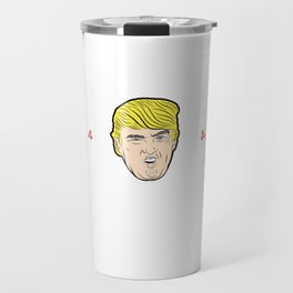 Government Donald Trump President Funny Feliz Navidad Trump Gift Travel Mug