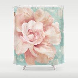 Petals Impasto Mint Shower Curtain