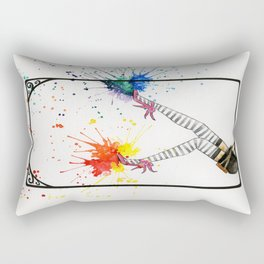 Kicking Up The Color Swing Rectangular Pillow