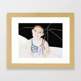Bayo in the rain. Framed Art Print