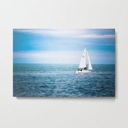 Howth sailboat Metal Print