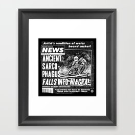 Freaky World News 2 Framed Art Print