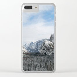 Tunnel View at Yosemite Clear iPhone Case